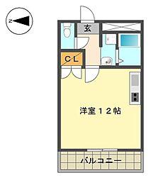 愛知県名古屋市名東区梅森坂5丁目の賃貸マンションの間取り