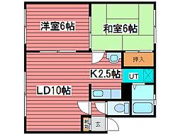 シティーハイム329[3階]の間取り