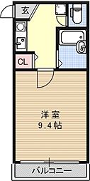 パラドール西院PART-III[507号室号室]の間取り