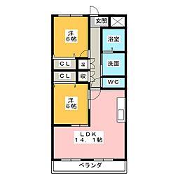 クレール[2階]の間取り