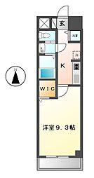 愛知県名古屋市昭和区桜山町1丁目の賃貸マンションの間取り