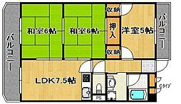 サンライズ住之江公園[5階]の間取り