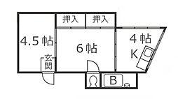 東京都青梅市沢井3丁目の賃貸マンションの間取り
