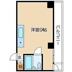 エクセレント中道[8階]の間取り