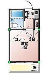 神奈川県相模原市中央区東淵野辺1丁目の賃貸アパートの間取り