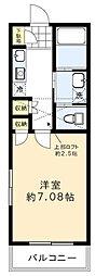 H・Mアパートメント 1階1Kの間取り