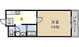 マンションシャトレ[1階]の間取り