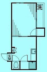シティボックス宮崎台[2階]の間取り