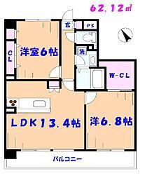 (仮称)市川リーフクリスタルマンション[1F-B号室]の間取り
