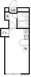 オリオンフラッツ[2階]の間取り