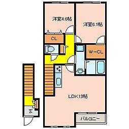ルナグランデ[2階]の間取り