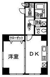 ロマネスク博多駅前アネックス[1201号室]の間取り