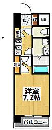 大阪府東大阪市高井田本通5丁目の賃貸マンションの間取り