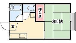 サンハイツ[1階]の間取り