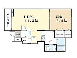 HUS north[1階]の間取り