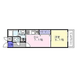 フジパレス杉本町1−2番館[2階]の間取り