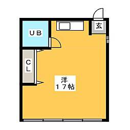 殿町アパートメント[3階]の間取り