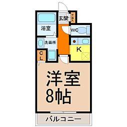 キャノンピア鶴舞[5階]の間取り