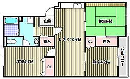 メゾントリヴァンベール[2階]の間取り