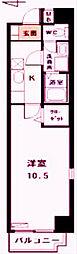 愛知県名古屋市中区栄1丁目の賃貸マンションの間取り