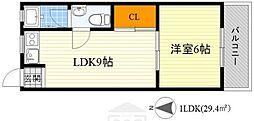 千里第一マンション[318号室]の間取り