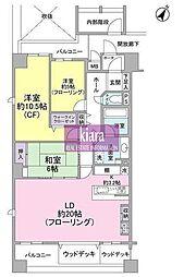 グランシティレイディアント横濱コンフォルト[11号室]の間取り