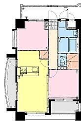 仮称)中村東3丁目マンション 4階2LDKの間取り