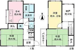 [一戸建] 東京都調布市布田3丁目 の賃貸【/】の間取り
