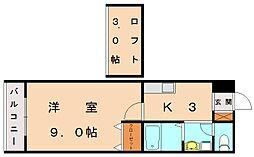 エスコート7[1階]の間取り