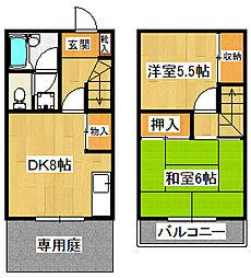 福島コーポ[102号室]の間取り