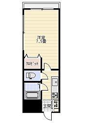 栄田六番館[611号室]の間取り