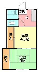渡辺荘[2階]の間取り