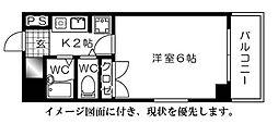 第8片山ビル[502号室]の間取り