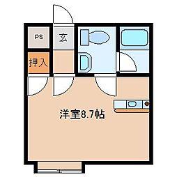 きりん11(エルフ)[2階]の間取り