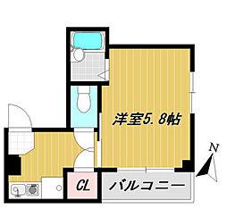 神奈川県横浜市保土ケ谷区岡沢町の賃貸マンションの間取り