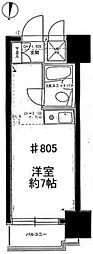 ライオンズマンション板橋区役所前[8階]の間取り