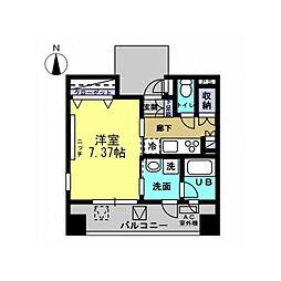 シャンドール小堀(台町)[402号室]の間取り