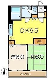 弘明寺パークコート[2階]の間取り