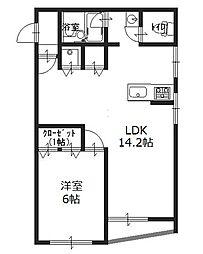 神谷マンション[3階]の間取り