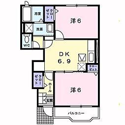 クラロポルタ[1階]の間取り