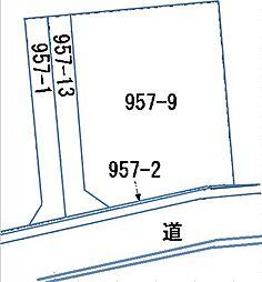 区画図。南側公...