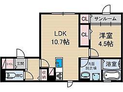 仮称)D-room上穂積[1階]の間取り