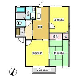 フォーレス西田A棟[102号室]の間取り
