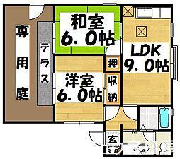 福岡県太宰府市連歌屋2丁目の賃貸アパートの間取り