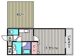 フジパレス南清水町III番館[2階]の間取り