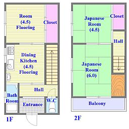 [一戸建] 兵庫県神戸市垂水区清水が丘1丁目 の賃貸【/】の間取り