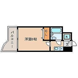 ビューライフ天神橋[2階]の間取り