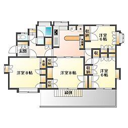 藤原荘[1階]の間取り