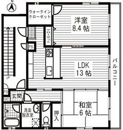 フローラル椎名町[3階]の間取り