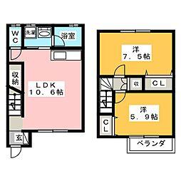 APT坂上A棟[1階]の間取り